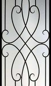 Arthur Wrought Iron Door Insert