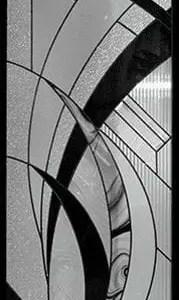 Atlas Stained Glass Door Insert