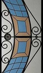 Cascade Stained Glass Door Insert