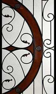 Castlewood Stained Glass Door Insert