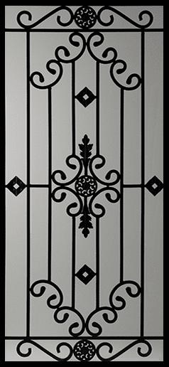 Dalemont Wrought Iron Door Insert