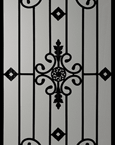 Dalemont Wrought Iron Door Insert