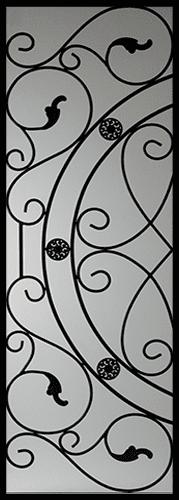 Whitfield Wrought Iron Door Insert