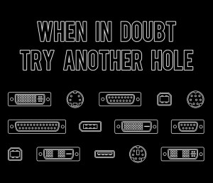 When in doubt, try another hole