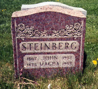 Lampe - Steinberg gravestone