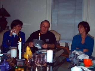 Ellen, Dave & Glenda at the table.