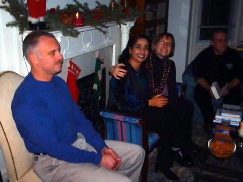 Steve, Lisa, Kathy & Dave in the living room.
