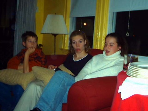 Steven, Steph and Laura in the den.