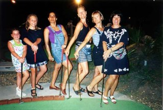 Laura, Steph, Lisa, Margaret, Kathy & Ellen: Sandbridge Mini-Golf: Virginia Beach, VA - 1997