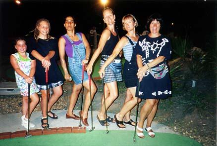 Laura, Steph, Lisa, Margaret, Kathy & Ellen: Sandbridge Mini-Golf: Virginia Beach, VA - 1997