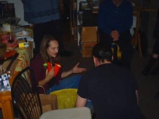 Chair, Jane, Saxomophone, Gary's back