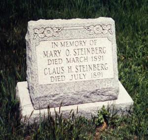 Oerding - Steinberg gravestone