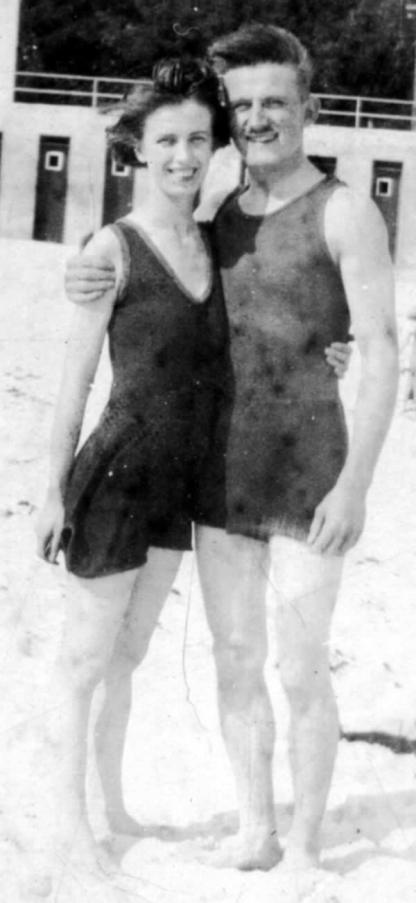 Dolly and Gus on their honeymoon