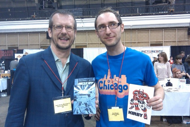 Rand Hoppe and Paul Hoppe at NYC's MoCCA Festival, 10 April 2011