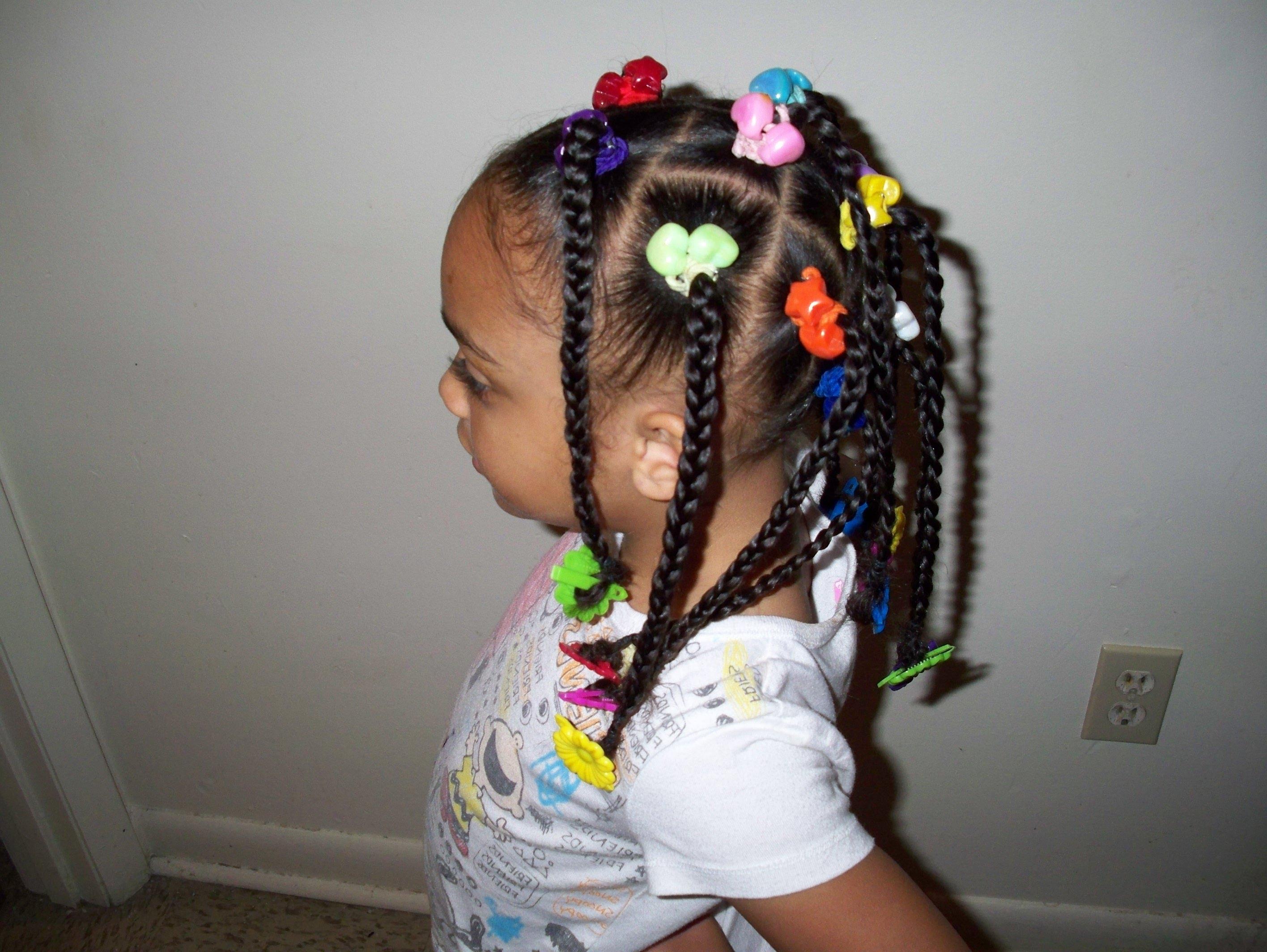 Black Little Girl Hairstyles Ponytails Girls Hair Tv Cute ...
