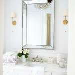 Glam Transitional Guest Bathroom Reveal With Marble Silver And Brass