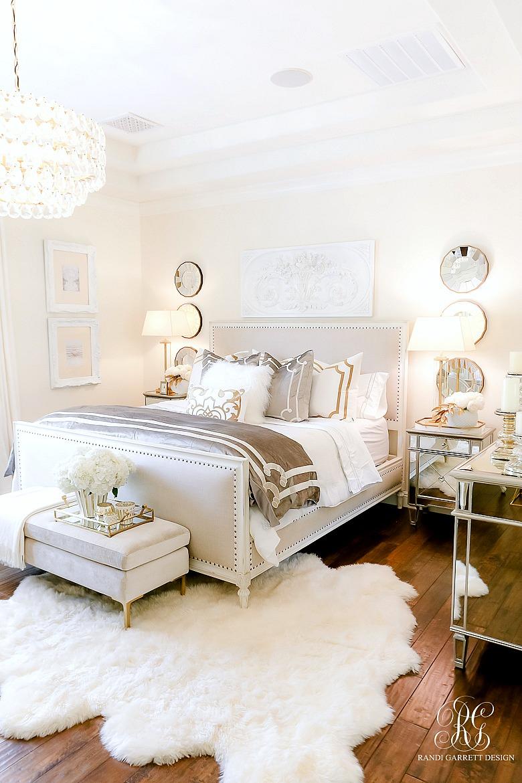innovative gold silver bedroom ideas