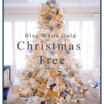 Elegant Blue White And Gold Christmas Tree Randi Garrett Design
