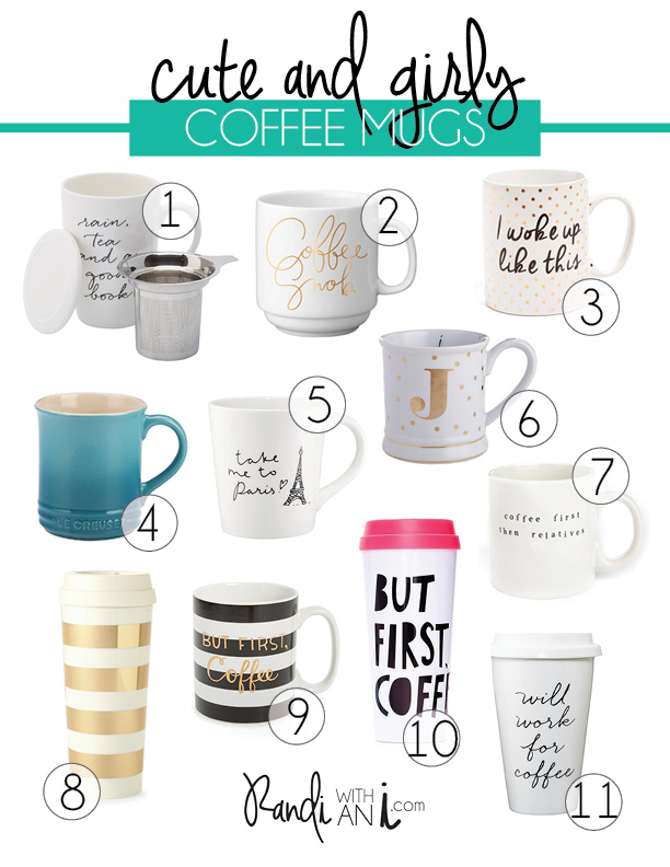 cute_white_gold_coffee_mugs