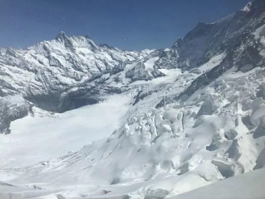 Widok na lodowiec Eiger