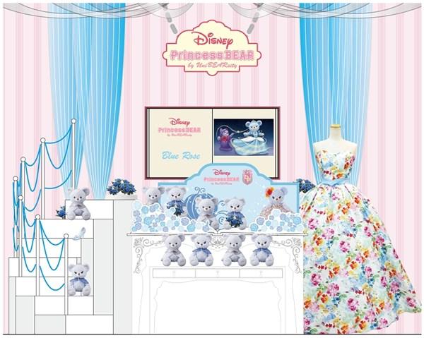 『DisneyPrincess BEAR by UniBEARsity』がディズニーストア渋谷公園通り店をジャック!
