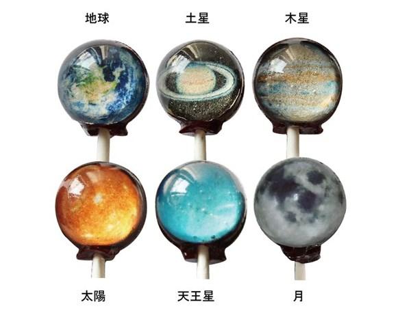 Vintage Confections プラネットロリポップ 6本セット【限定ムーン入】