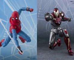 「スパイダーマン」と「アイアンマン」のフィギュア『S.H.Figuarts スパイダーマン(ホームメイドスーツ ver.)&アイアンマン マーク47』