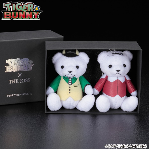 TIGER & BUNNY × THE KISS × BANDAI ベアマスコットチャーム付きリング バディセット
