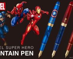 「MARVEL」デザイン万年筆 全3種