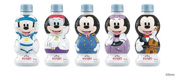 第3弾「エビアン(R) キャラクターボトル ミッキーシリーズ」