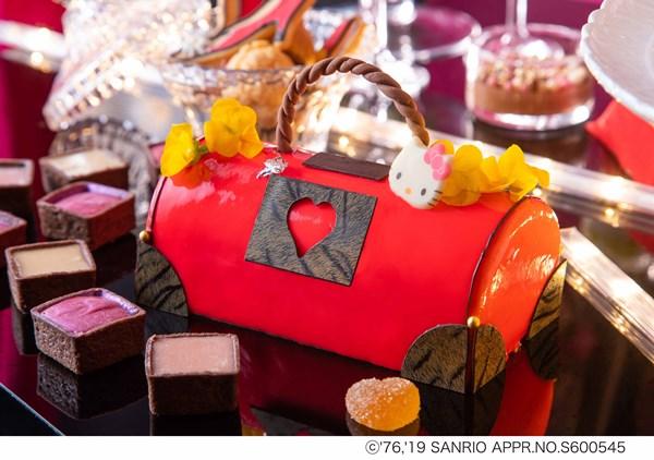 「真っ赤なハローキティ・バッグケーキ」