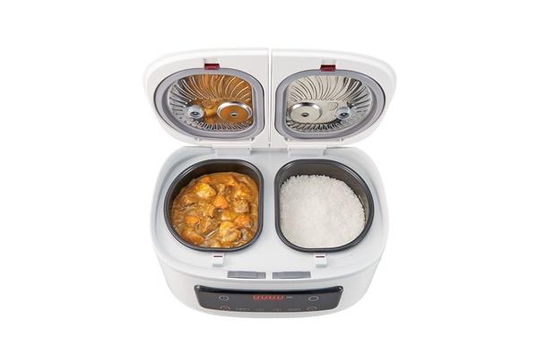 1台でご飯とおかずが同時にできる自動調理鍋「ツインシェフ」