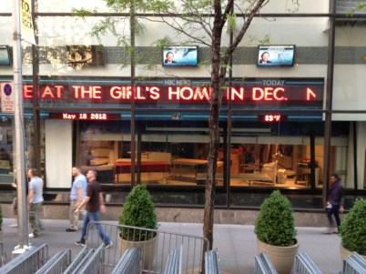 """Where """"The Today Show"""" films."""