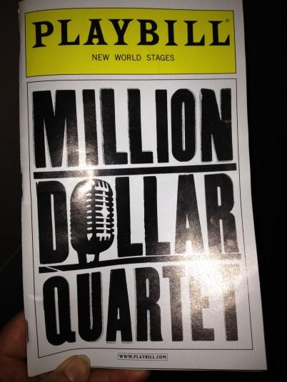 """Saw """"Million Dollar Quartet"""" for work. It was a blast!"""