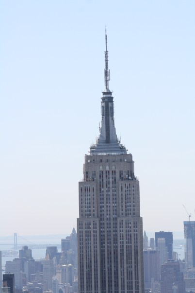 The top of the Empire State Building.