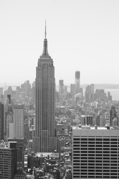 An old New York look with the black and white.