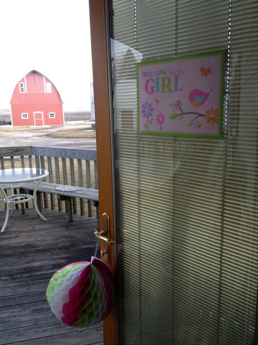 View of the farm from the shower.