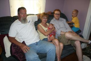 Dadine, Grandma Mel, Charlotte, Dad and Cousin Dallas.