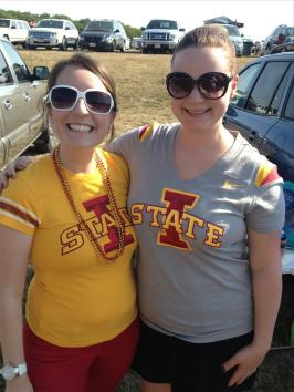 My friend Nicole and I - first tailgate since our babes were born in May/June.
