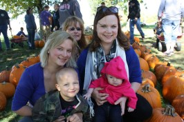 With Mom, Grandma Melody, Aunt Haley and Cousin Dallas.