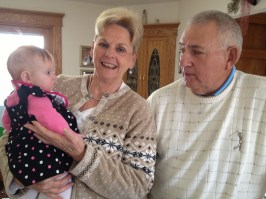 With Great-Aunt Marge and Great-Uncle Larry