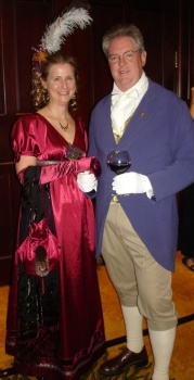 Image 1 Random Bits, Syrie and Bill James dressed for Jane Austen ball