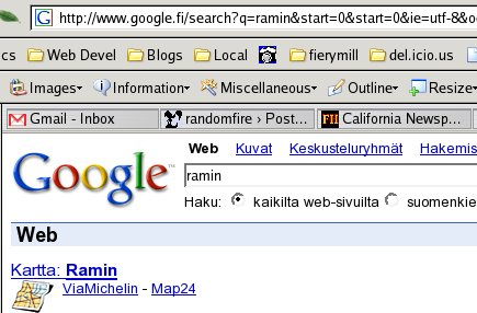 Google map option on google.fi