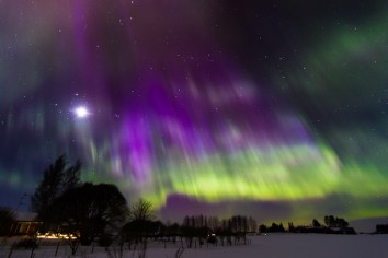 nothern lights in Liperi Finland in March 2013
