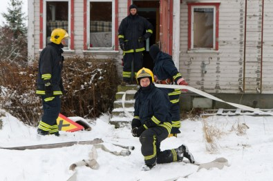 firefighters and hoselines