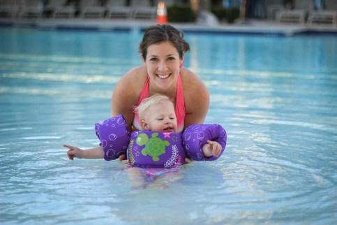Swimming with Mom