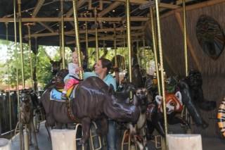 Rys fav, the carousel. She rode the Rhino