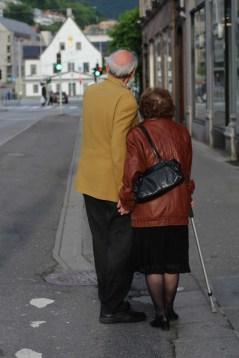 Elderly Couple in Town