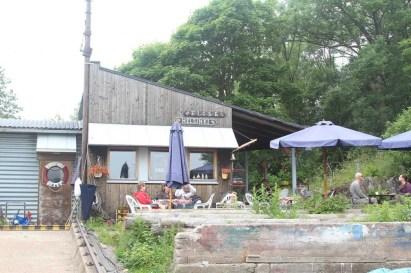 Awesome shipyard coffee shop