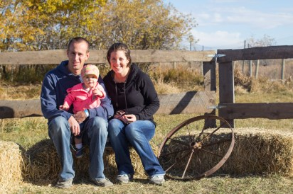 Family shot at the Calgary Corn Maze